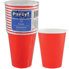 party cups bulk paper party cups 9 oz 12 ct packs at dollartree