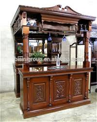 Wood Bar Cabinet Replica Victorian Carved Style Wooden Bar Furniture Pub Bar Tavern
