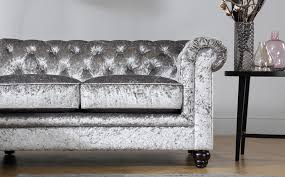 Chesterfield Velvet Sofa Silver Chesterfield Sofa Home And Textiles