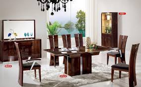 Where To Buy Dining Table And Chairs Dt21a Dining Room 10pc Set In Dark Brown High Gloss By Pantek