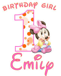 1st birthday minnie mouse clipart 1904342