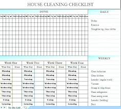 printable house cleaning schedule printable cleaning schedule template demonow info