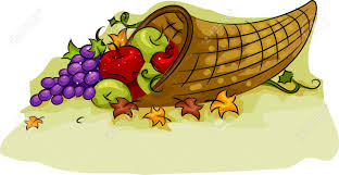 illustration of a cornucopia basket for thanksgiving stock photo