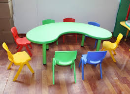 Plastic Table And Chairs Factory Sales Kids Table Set Kindergarten Children Desks And