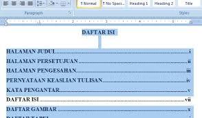 cara membuat daftar gambar word 8 contoh daftar isi serta cara membuat daftar isi otomatis di mc word