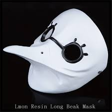 white plague doctor mask dr beulenpest steunk plague doctor beak masks steunk white