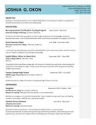 cover letter resume for certified nursing assistant resume skills