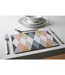 design liege set de table design en liège stratifié multicolore arlequin set