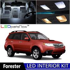 subaru forester red 2016 amazon com ledpartsnow 1998 2014 subaru forester led interior