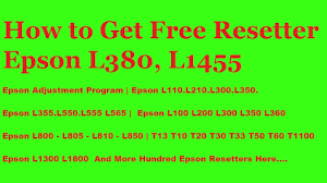 resetter epson l210 ziddu epson l380 resetter and more resetters available here youtube