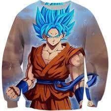 goku super saiyan blue ssgss dbz cool sweatshirt goku super