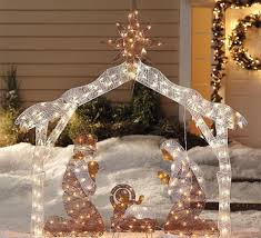 beautiful decorate your yard along with an outdoor nativity