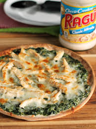 easy thanksgiving leftover recipes turkey spinach alfredo pizza the weary chef