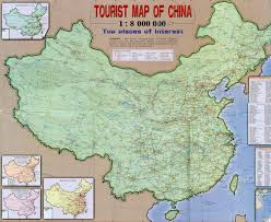 China Maps by Large Detailed Tourist And Road Map Of China China Large Detailed