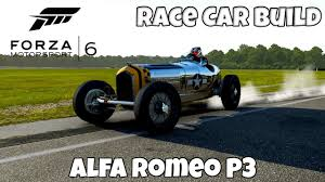 vintage alfa romeo race cars forza motorsport 6 alfa romeo p3 race car build youtube