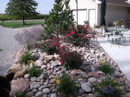 Backyard Hill Landscaping Ideas Side Hill Landscaping Front Yard Stones And Little Rocks Need To