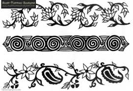floral vine flowers armband tattoos design