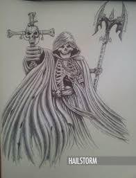 grim reaper pen drawing by hailstorm11 on deviantart
