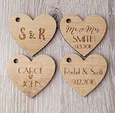 wedding tags wedding favor tags personalized wooden tags heart