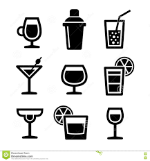 drink vector cocktail icons set stock vector image 45154390