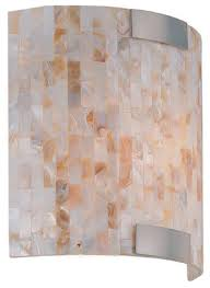 Mosaic Wall Sconce Lite Source Ls16381 Schale Tropical Shell Mosaic Wall Sconce Ls