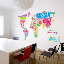 World Map Wallpaper Mural by New Design World Map Wall Stickers Decals Personality Art