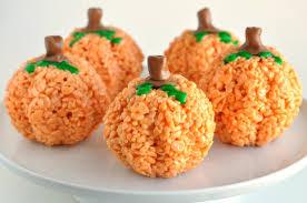 rice crispy treat pumpkins yummytummyfoods