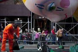 thanksgiving 2012 picture of macy s parade balloons inflated just