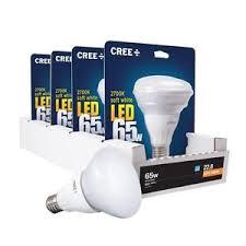 br30 spot light bulbs 4 pack cree led 9 5 w 65 watt soft white br30 dimmable flood spot