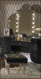 Bedroom Vanities With Lights Black Vanity Set With Lights Foter