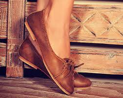 womens brown leather boots sale womens flats etsy