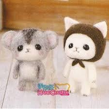 hamanaka diy needle wool felt rabbit and kit japanese craft