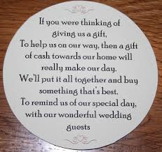 wedding gift poems present place designs money request poems for home