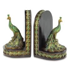 unique bookends gifts decor peacock bookends office library decor