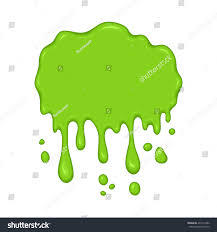 halloween background green vector illustration slime drips flowing abstract stock vector