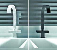 bathroom faucets with embossed motives by daniel rubinetterie