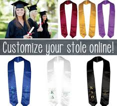 sorority graduation stoles 9 best graduation stole images on graduation stole
