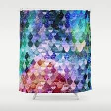 Funky Curtains by Blue And Unicorn Shower Curtains Society6