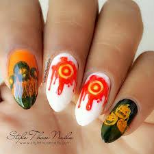 style those nails halloween nailart stamping design