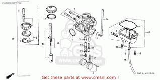 honda xr80r 1991 m sweden carburetor schematic partsfiche