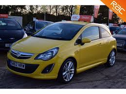 vauxhall yellow used vauxhall corsa hatchback 1 4 i 16v sri 3dr a c in hook
