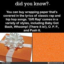 buy wrapping paper did you you can buy wrapping paper that s covered in the