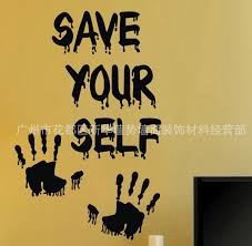 cool unique design beautiful halloween save yourself vinyl wall