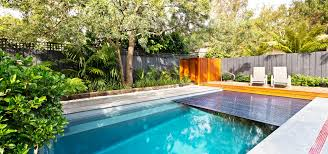 Swimming Pool In Backyard by The Reflection With Auto Cover Leisure Pools Usa