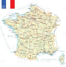 Nice France Map by France Detailed Map Illustration Stock Vector Art 518704386 Istock