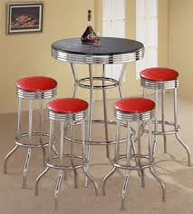 Retro Bar Table The Furniture Cove 5 Retro Black Bistro Table Pub Set