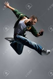Cool Looking - cool looking dancer makes a difficult jump stock photo picture