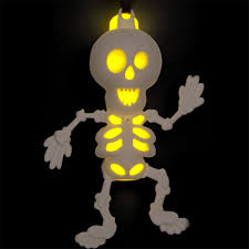 Glow In The Dark Skeleton Costume Halloween Glow Stick Skeleton Necklace Or Pendant By Amscan 394474