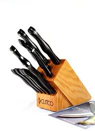 cutco kitchen knives cutco model 1945 essentials 5 set with honey oak knife block