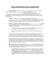 Receipt Of Rent Payment Template Free Texas Standard Residential Lease Agreement Template Pdf